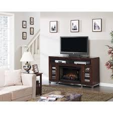 luxe wesleyan 66 in media mantel electric fireplace in cherry