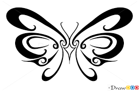 easy butterfly designs to draw