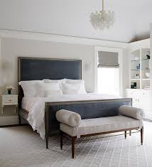 Dark Blue And Gray Bedroom Gray Bedroom With Blue Velvet Headboard Normally I The Idea