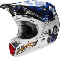 fox motocross apparel racing v3 star wars r2d2 w mips le mens motocross helmets