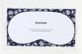 eye mask template eye mask tutorial my desk