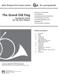 Youre A Grand Old Flag The Grand Old Flag By George M Cohan Arr Kinyon J W Pepper