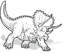coloring pages rex triceratops dinosaurs kids printable free