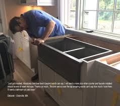 how to install stainless steel farmhouse sink atmosphyre vanities sinksreviews