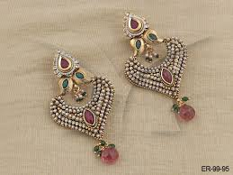 latkan earrings polki earings punam moti latkan earring