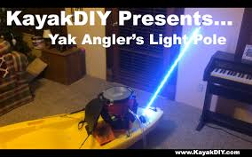 light up fishing pole homemade led whip light pole great for kayak boat atv and more