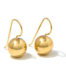 drop earrings gold technibond polished drop earrings 8079275 hsn