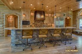 golden eagle log homes log home cabin pictures photos kitchen area