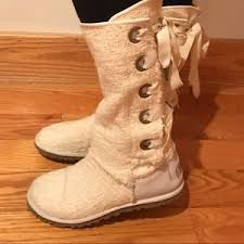 ugg boots womens tularosa chestnut lace up s ugg boots lace up back on poshmark