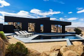 cave like black desert house by oller u0026 pejic architecture