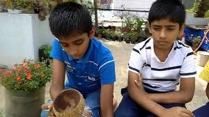 how to make a coconut shell planter youtube