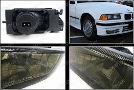 bmw e36 fog light bracket 1992 1998 bmw e36 3 series oem style smoke housing fog lights