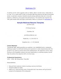 Waitress Resume Sample Skills by Cover Letter Sample Server Resume Sample Resume Server Assistant
