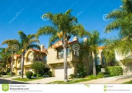 spanish style houses in a master planned community stock image