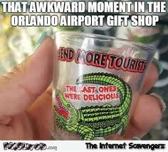 Gift Meme - awkward moment in orlando airport gift shop meme pmslweb
