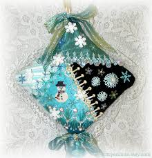 kitty and me designs crazy quilt christmas ornaments