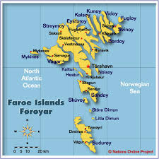 islands map map of the faroe islands nations project