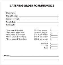 catering invoice template free invoice example