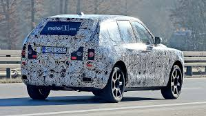 rolls royce suv rolls royce cullinan suv caught testing for the first time