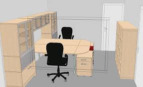 T Shape Desk Home Office Layout Ideas Vote
