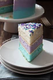 surprise watercolor layer cake vanilla buttercream frosting