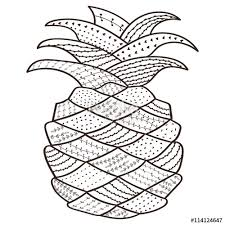 coloring book pineapple whimsical art