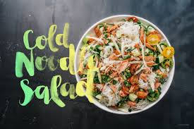 cold noodle summer salad with salmon i am a food blog i am a