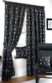 Black Floral Curtains Black And White Floral Curtains For Bedroom Black And White Floral