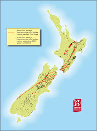 New Zealand On World Map Faults In New Zealand Seismic Resilience