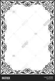 ornamental scroll border vector photo bigstock