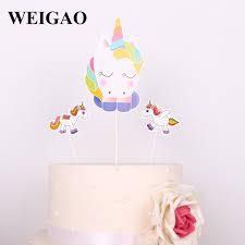 unicorn cake topper weigao 3pcs unicorn cake topper diy cake decoration