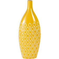 Ceramic Football Vase Elements 18 Inch Yellow Ceramic Vase Walmart Com