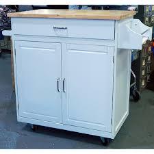 Belmont White Kitchen Island Mobile Kitchen Cart U2013 Industrial U2013 Kitchen Islands And Kitchen