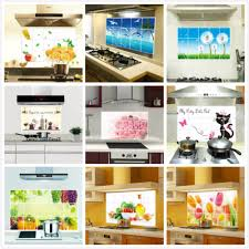 foil backsplash wall sticker small home decor inspiration cute