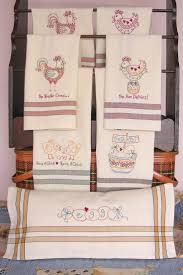 embroidered kitchen towels towel