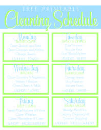printable house cleaning schedule free printable cleaning schedule get the house clean freak clean