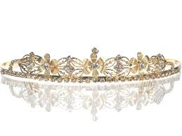 Gold Flowers Amazon Com Bridal Wedding Tiara Crown With Gold Flowers 4652g5