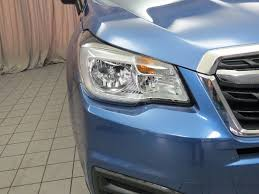 subaru forester 2017 quartz blue 2017 used subaru forester 2 5i cvt at north coast auto mall