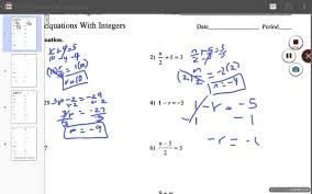two step equations with integers answers part 1