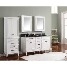 free standing linen cabinets made of oak wood in white finsihed