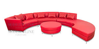 Red Ottoman Modern Line Furniture Commercial Furniture Custom Made