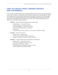 Financial Statements For Non Profit Organizations Exle by Quickbooks Statement Writer 2012