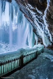 North Carolina world travel images Dry falls during the polar vortex near highlands nc jpg