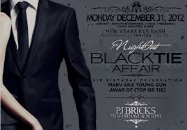 new years tie new years black tie affair pj bricks monday december 31