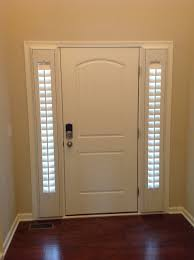 Small Tension Rods For Sidelights by Let U0027s See What Trendy Curtains For Front Door Sidelights Design