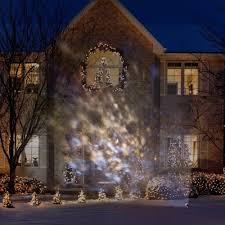 Led Christmas Light Projector by Amazon Com Lightshow White Frozen Fire Ice Snow Spotlight