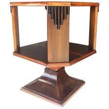 Round Revolving Bookcase Art Deco English Small Table Top Revolving Bookcase At 1stdibs