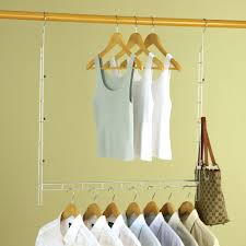heavy duty xtra closet organizer with 8 bonus hangers doubles