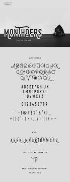 creative font design online monthoers typeface on behance