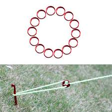 Awning Cord 10x Red Aluminum Tent Awning Cord Fastener Guy Line Runners